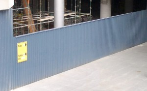 Hoardings: A Class Colorbond or Equivalent