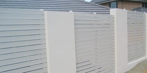White Slat Privacy Fencing