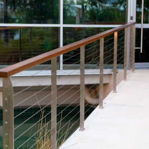 Wooden and Metal Handrail Fencing
