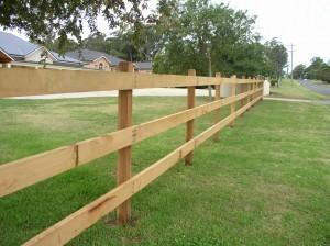 Wooden Rural Fencing