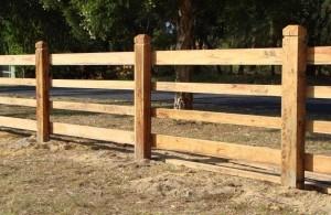 Rural Fencing: Post & Rail