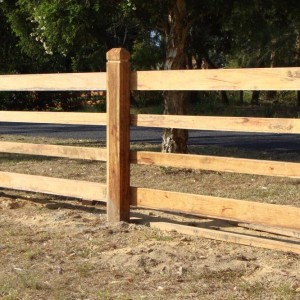 Star Post and Rail Rural Fencing