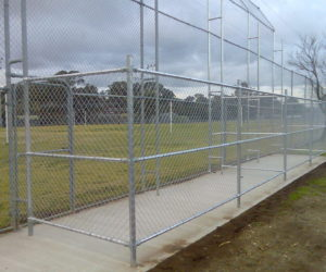 Rail Playing Fields Cage