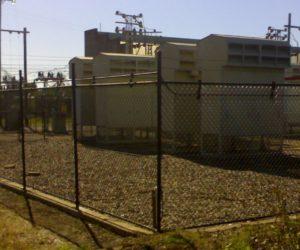 Black enclosure storage cage