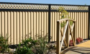 Colorbond With Lattice Fencing