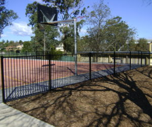 Flat Top Basketball Court Fencing