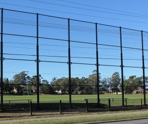 All Black Chainwire Fencing Enclosure For Playing Field