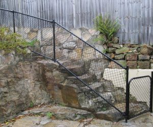 Chainwire Fencing Raked