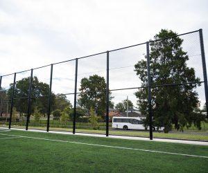 Black Chainwire Fencing