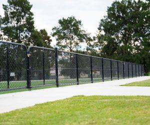 Black Chainwire Fencing 6m