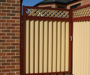 Lattice Colorbond Fence Gate