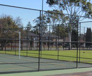 Netball Court 3 Rail Chainwire Fencing