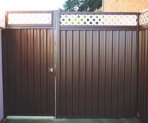 Single Gate Colorbond Fence