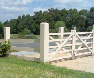 Rural Ranch Style Double Gate