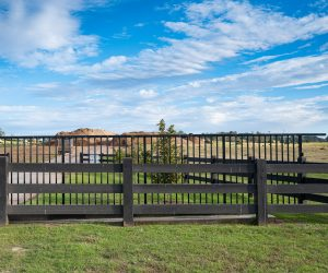 Treated Pine 3 Rail Rural Fence Painted